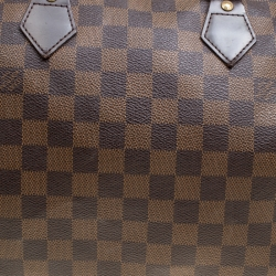 Louis Vuitton Damier Ebene Canvas and Leather Speedy 30 Bag