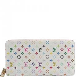 7406d576c18f Buy Louis Vuitton White Multicolore Monogram Canvas Zippy Wallet ...