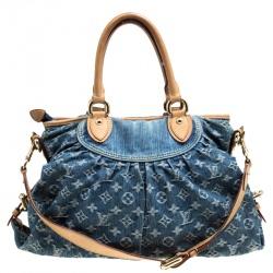 0e7e40bfc8c2 Louis Vuitton Blue Monogram Denim Neo Cabby MM Bag