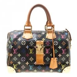 ad783f164031 Louis Vuitton Black Multicolor Monogram Canvas Speedy 30