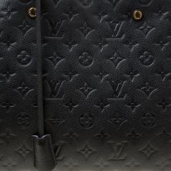 Louis Vuitton Black Monogram Empreinte Leather Montaigne GM Bag