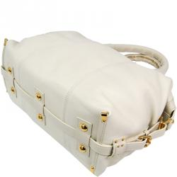 Louis Vuitton Ivory Leather Veau Sac Louis Special Order Bag