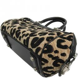 b0792c483e46 Louis Vuitton Beige Black Leopard Print Canvas and Leather Baby Bag