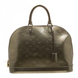 8d87066ffcfc Louis Vuitton Vert Olive Monogram Vernis Alma GM Bag