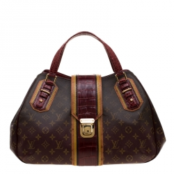 003cafb28b3b Louis Vuitton Monogram Limited Edition Bordeaux Mirage Griet Exotic Bag