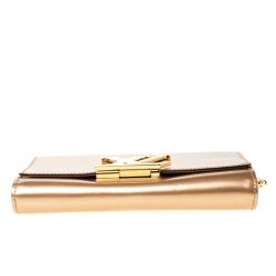 Louis Vuitton Beige Patent Leather Chain Louise MM Bag