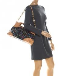 Louis Vuitton Black Multicolore Monogram Canvas Judy GM Bag