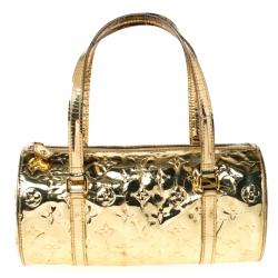 Louis Vuitton Gold Monogram Vinyl Limited Edition Miroir Papillon Bag