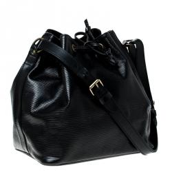 Louis Vuitton Black Epi Leather Petit Noe Shoulder Bag