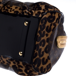 Louis Vuitton Monogram Canvas and Leopard Calfhair Limited Edition Stephen Sprouse Bag