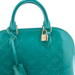 Louis Vuitton Bleu Lagon Monogram Vernis Leather Alma PM Bag