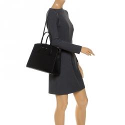 Louis Vuitton Black Leather City Steamer MM Bag