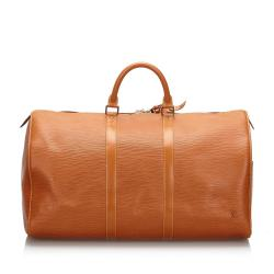 Louis Vuitton Brown Epi Leather Keepall 50 Bag