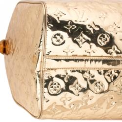 Louis Vuitton Gold Monogram Limited Edition Miroir Speedy 35