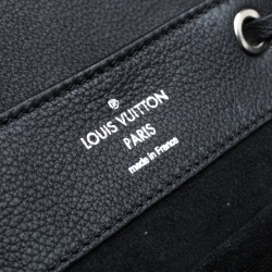 Louis Vuitton Black Leather Lock Me Backpack
