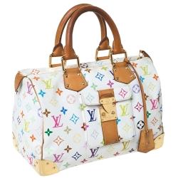 Louis Vuitton White Monogram Multicolore Canvas Speedy 30 Bag