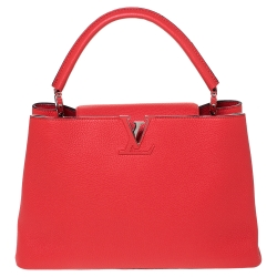 Louis Vuitton Corall Taurillon Leather Capucines MM Bag