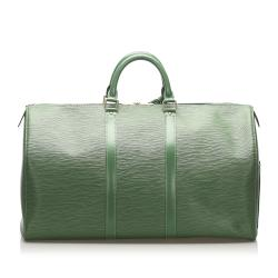 Louis Vuitton Green Epi Leather Keepall 50 Bag