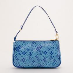 Louis Vuitton Blue 'Cosmic Blossom' Pochette
