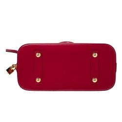 Louis Vuitton Indian Rose Monogram Vernis Leather Alma PM Bag
