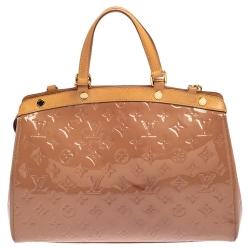 Louis Vuitton Beige Poudre Monogram Vernis Brea MM Bag