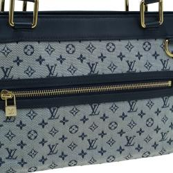 Louis Vuitton Navy Mini Lin Canvas Lucille PM with Wallet