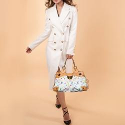 Louis Vuitton White Multicolor Monogram Canvas Ursula Bag