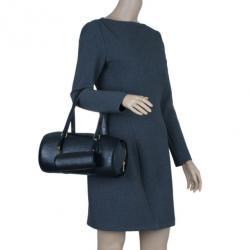 Louis Vuitton Black Epi Leather Soufflot Bag and Pouch