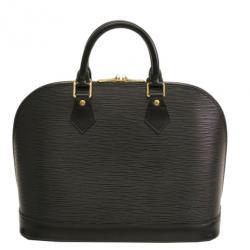 Louis Vuitton Noir Epi Leather Alma MM