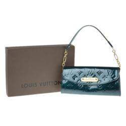 Louis Vuitton Green Monogram Vernis Sunset Boulevard Clutch