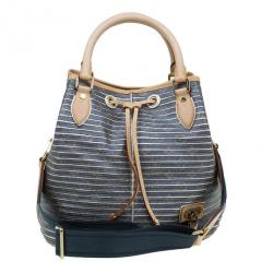 d0eb778518b Louis Vuitton Metallic Leather Striped Eden Néo Tote