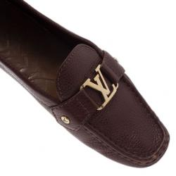 Louis Vuitton Brown Leather Loafers Size 39