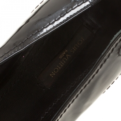 Louis Vuitton Black Patent Leather Fringe Detail Loafers Size 38.5
