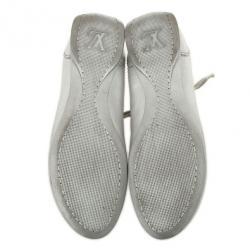 Louis Vuitton Silver Monogram Sneakers Size 38.5