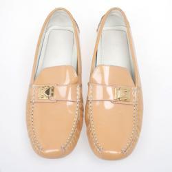 Louis Vuitton Peach Patent Leather Zen Loafers Size 39
