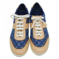 Louis Vuitton Monogram Denim and Leather Sneakers Size 40