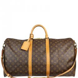 621abce07751 Louis Vuitton Monogram Canvas Keepall Bandouliere 55 Bag