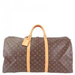 a6aba18351d1 Buy Louis Vuitton Monogram Canvas Keepall Bandouliere 55 Bag 141816 ...
