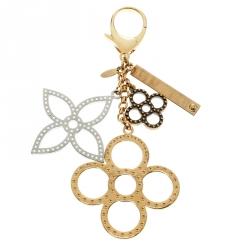 Louis Vuitton Tapage Three Tone Metal Key Ring / Bag Charm