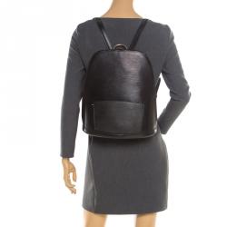 Louis Vuitton Black Epi Leather Gobelins Backpack Bag