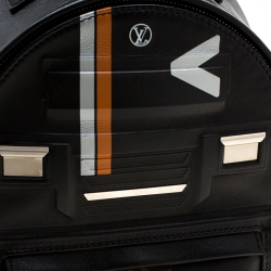 Louis Vuitton Black Leather Space Palm Springs PM Backpack