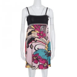 6d7f5d918 M Missoni Multicolor Floral Printed Sleeveless Dress S