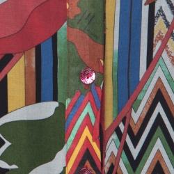 M Missoni Multicolor Printed Cotton Full Sleeve Kaftan Dress M