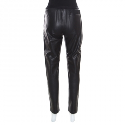 Maison Martin Margiela Black Lambskin Leather Leggings S