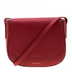 Mansur Gavriel Red Leather Crossbody Bag