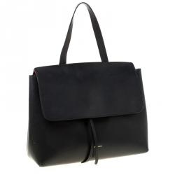 حقيبة منصور جيفريل ليدي جلد أسود بيد علوية