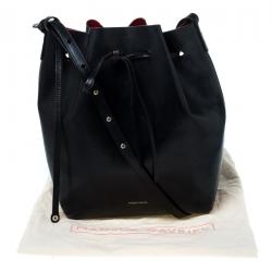 حقيبة منصور غافرييل باكت جلد سوداء