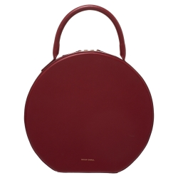 Mansur Gavriel Red Leather Circle Satchel
