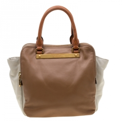 891a14789dff Marc by Marc Jacobs Brown White Leather Tote