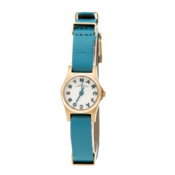8f9a100b4 Marc by Marc Jacobs White Yellow Gold Plated Stainless Steel Henry MBM1314  Women's Wristwatch 20 mm
